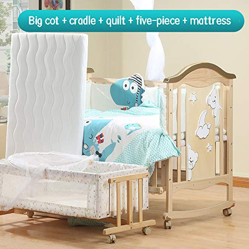 Review Of Dzhyy Crib Multi-Function Newborn Bed Game Bed Stitching Children's Bed White,Package 5