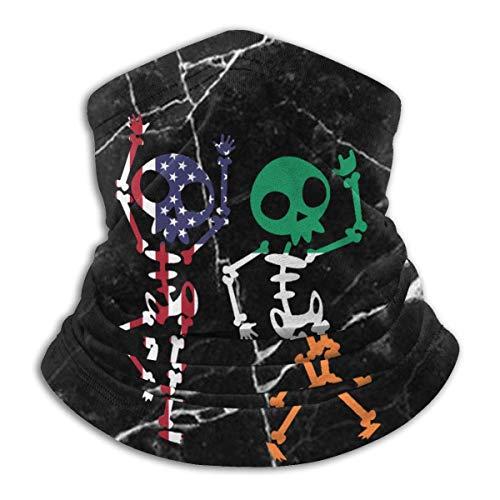Dydan Tne Halloween Tupfen American Irish Flag Skeleton Männer Frauen kaltes Wetter Gesichtsschutz für Motorradfahren