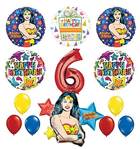 Mayflower Products Wonder Woman 6th Birthday Party Supplies and Balloon Decorations