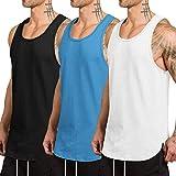 COOFANDY Herren 3er Pack Quick Dry Workout Weste Gym Muscle Tee Fitness Bodybuilding ärmelloses...