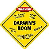 Darwin's Room Kids Room Door Metal Novelty Sign, Vintage