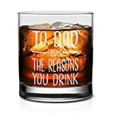 NeeNoNex To Dad From The Reasons You Drink Whiskey Glass - Funny Gift for Dad from Daughter Son Kids