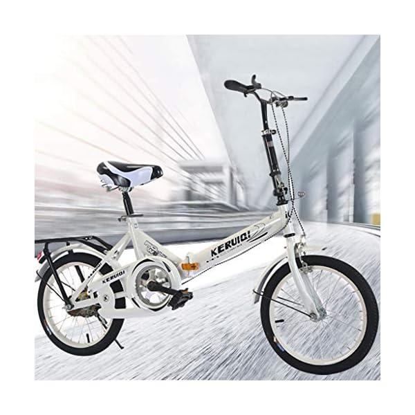 Folding Bikes HUYURI 20 Inch Foldable Lightweight Mini Bike Small Portable Bicycle Adult Student
