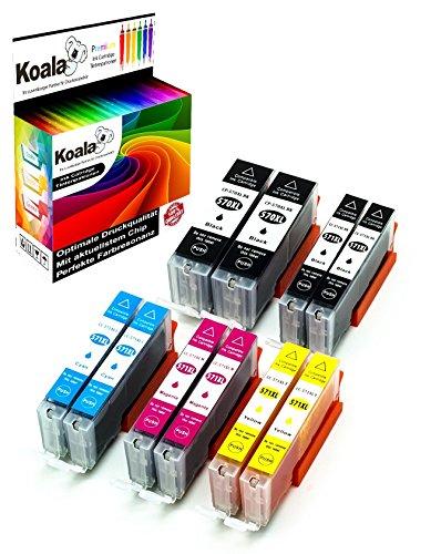 Koala 10 Druckerpatronen kompatibel für Canon PGI-570XL CLI-571XL 570XL 571XL für Canon Pixma MG5750 MG5751 MG5752 MG5753 MG6850 MG6851 MG6852 TS5053 TS5055 TS6050 2*BK 2*PBK 2*C 2*M 2*Y…