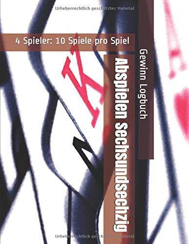 Abspielen Sechsundsechzig - 4 Spieler: 10 Spiele pro Spiel - Gewinn Logbuch