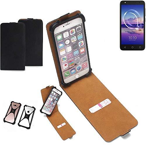 K-S-Trade® Handy Schutz Hülle Für Alcatel U5 HD Single SIM Schutzhülle Bumper Schwarz 1x