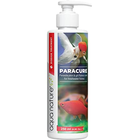 AquaNature Paracure Parasite,Skin & Gill flukes Cure for Freshwater Fishes 250ml/8.5oz