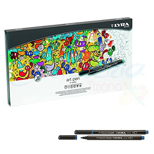 Lyra Art Pen Caja de metal 40 unidades Rotuladores de dibujo colores...