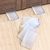 8 Pcs Rubbery Clear Table Shims, Level Wedge for Home Improvement, Have Extreme Weight Capacity, are Weather Resistant, Perfect for Fixing Wobbly Furniture(Transparent-Thin)