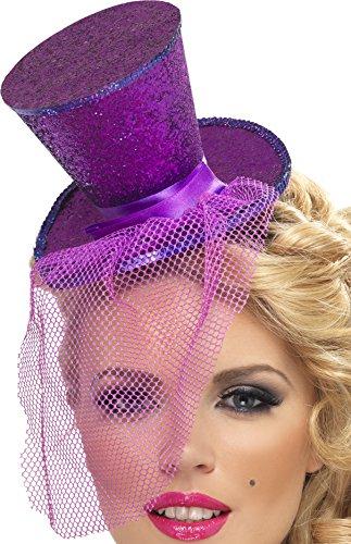 Smiffys, Fever, Damen Mini Hut auf Haarreif, One Size,Violett