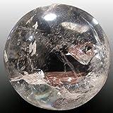 Esfera de Cuarzo Blanco de Piedra 100% Natural Bola De Cristal Transparente Equilibrio de 6cm