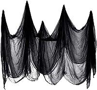 ハロウィーンシーンガーゼ、黒紡績ミッドエアポリエステルコットン装飾布シーン小道具