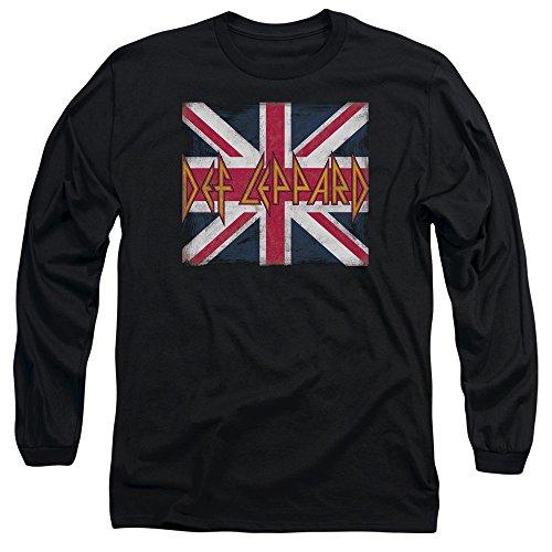 Def Leppard - - Union Jack T-shirt manches longues pour hommes, X-Large, Black