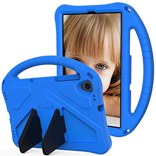 SZCINSEN Funda para niños Samsung Galaxy Tab A 10.1 (2019) SM-T510 T515, para niños Eva a prueba de golpes, ligera, resistente a golpes, con asa grande, funda protectora resistente (color: azul)