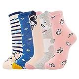 Moyel 5 Pairs Dog Lover Gifts For Women Pug Corgi Gifts Socks Cute Animals