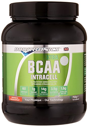 Boditronics BCAA IntraCell XTRA 750g Orange and Passionfruit Intra Workout and BCAA Powder