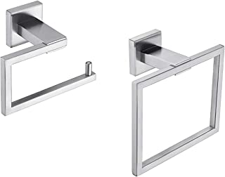 NANA KLXHOME 2-Piece Bath Hardware Kit Brushed Stainless Steel Bathroom Accessories Set Wall Mount - Includes Hand Towel R...