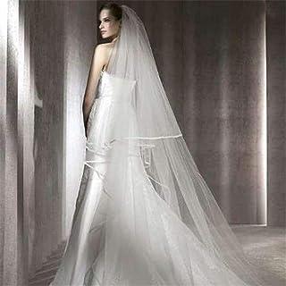 Women Bride Veil Bride Ribbon Edge Bride Veils Long Chapel Wedding Accessories Without Comb 1 Tier 3.0 Meters 0605 yynha (...