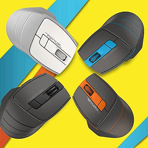 ldy Ratón inalámbrico inalámbrico para Ordenador portátil, ratón de Oficina, ratón portátil, Antideslizante, Bicolor, Moda, Viajes de negociosblack