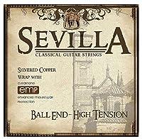 [SEVILLA] セヴィラ クラシックギター弦 ハードテンション BALL END コーティング弦