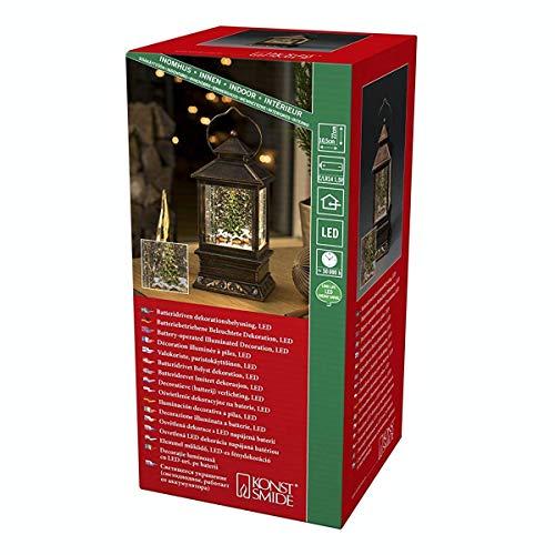 KONSTSMIDE Lanterna con scena di mercatino di Natale, riempita di acqua: a batteria: 4356-000