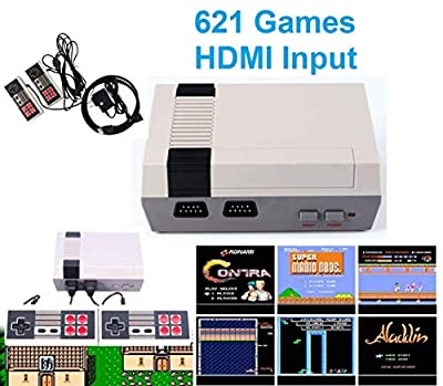 Oriflame Classic Game Console Built-in 621 Game in TF Card, with 2 Joysticks, Video Game Console, Handheld Game Player Console for Family TV HDMI HD us35 by Oriflame