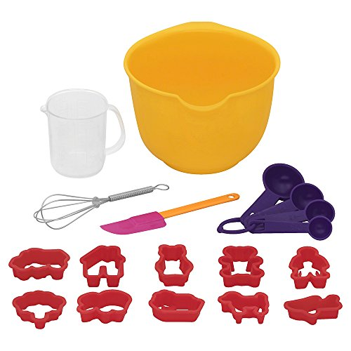 Bakers Secret Kids Baking Set-Includes Mixing Bowl, Tools, and CookieCutters 1119239