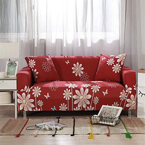 SUUZQK Die Mehrfarbige Optionale Stretch-Sofabezug Aus Polyester Mit Vollumrandung Ist Nicht Leicht Zu Verformen. Das L-Förmige Sofa Benötigt 2 Sofabezüge 1 Seater (90-140 cm)