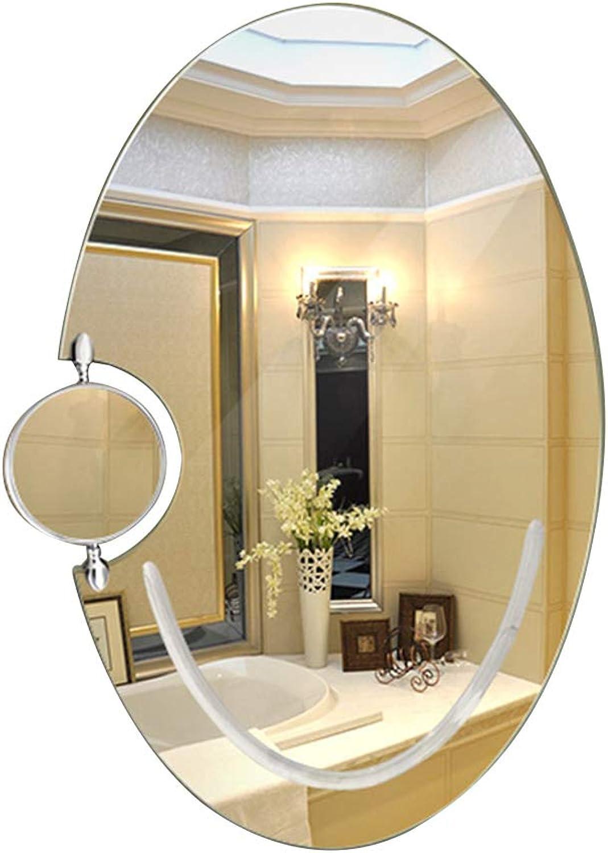 Mirror Bathroom Frameless Bathroom Mirror Wall Mounted washbasin Vanity Mirror Oval Vanity Mirror