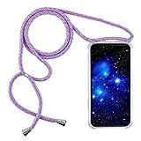 1stfee Compatible con Funda para SamsungGalaxyJ52015 Funda para teléfono móvil con cordón Transparente TPU Diseño de Protección Anti-Shock Cover