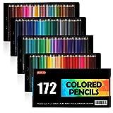 Shuttle Art 172 Colored Pencils, Soft Core Color Pencil Set for Adult Coloring