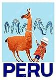 yiyitop Poster-Alpaka Südamerika Südamerika Peru Karte