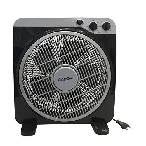 AXSOM ELECTRONICS COOLSILENT Ventilador De Suelo Silencioso, Ventilador para Suelo con diseño Delgado y Motor 60W, Ventilador con Tres Velocidades