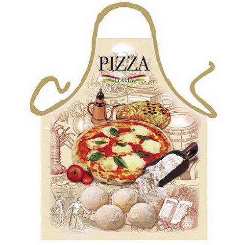 sabuy Grillschürze - Kochschürze - Italienische Pizza - Lustige Motiv Schürze als Geschenk für Grill Fans mit Humor