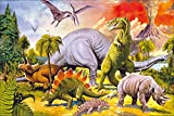1art1 Dinosaurier - Collage, Dino-Welt Poster 91 x 61 cm
