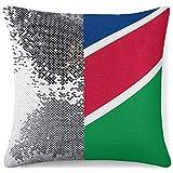 KAZOGU Meerjungfrau Überwurf Kissenbezug Wendekissenbezug Originalität Namibia Flagge Schlafzimmer Sofa Dekor Kissenbezug Glitzer