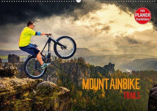 Mountainbike Trails (Wandkalender 2019 DIN A2 quer): Mountainbike Action durch Fantasiewelten (Geburtstagskalender, 14 Seiten )