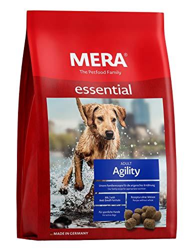 MERA essential hondenvoer agility, droogvoer met een recept zonder tarwe voor actieve sportieve honden, per stuk verpakt (1 x 12,5 kg)