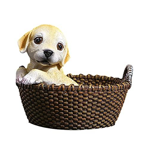 LOVIVER Cute Animals Catchall Escritorio Vanity Valet Tray Entrada Entrada Almacenamiento Hogar Llave Organizador de Teléfono Candy Nuts Exhibición de Joyas C - 16,5x15x13,5 cm amarillo