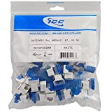 ICC CAT5e RJ45 Keystone Jack for EZ Style, White, 25-Pack