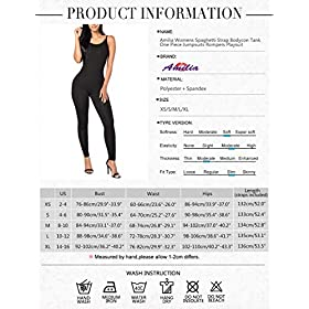 Amilia Womens Spaghetti Strap Bodycon Tank One Piece Jumpsuits Rompers Playsuit