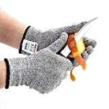 IDEAL Pro Cut Resistant Protective Gloves for Safety. Anti Cut Kitchen Gloves