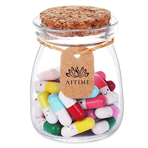 Lovers Gift Capsule Letters, Your Private Conversation Message in a Bottle, Ideal Gift for Boyfriend and Girlfriend (Mixed Color 50pcs)