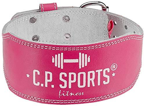 CP Sports Lady Gürtel Leder lachs – Frauen, Damen Gewichthebergürtel – Stützgürtel (L = 84 – 99cm) - 2