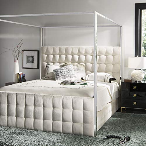 white color king size canopy bed for sale