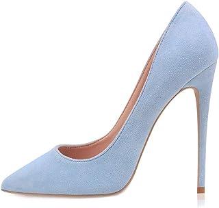 GENSHUO Chaussures à Talons Pointus et à Talons Aiguilles - Femmes Classiques à Talons Hauts Chaussures de soirée élégante...