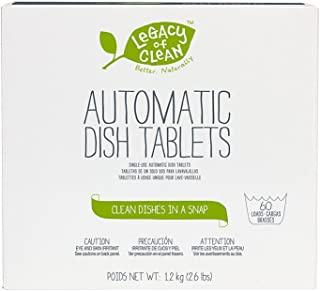 Legacy of Clean Dish Drops Dishwasher Tablets Detergent (60 Tablets)