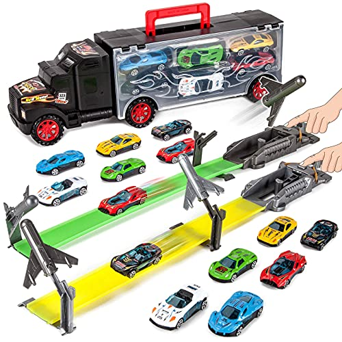 Abincee Toddler Toys for 3-5 Year Old Boys,Toy Truck Carrier with 12...