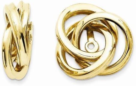 14 Karat Yellow Gold Love Knot Earring Jackets