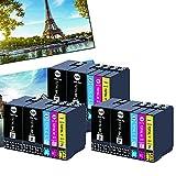 OGOUGUAN 27XL - Cartucho de tinta para Epson 27 XL para Epson Workforce WF-3620 WF-3640 WF-7110 WF-7210 WF-7610 WF-7620 WF-7710 WF-7715 WF-7720 (6 negro, 3 cian, 3 magenta, 3 amarillo)